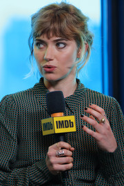Imogen Poots styled her outfit with a statement ring for the IMDb Studio event.