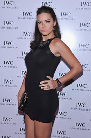 Adriana Lima looked fab in this little black maternity dress at the IWC Flagship Boutique opening.