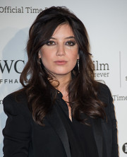 Daisy Lowe showed off a perfectly done smoky eye.