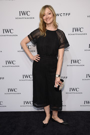 Judy Greer kept it relaxed in a cropped black jumpsuit during the IWC Schaffhausen 'For the Love of Cinema' Gala.