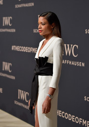 Naomie Harris attended the IWC Schaffhausen 'Decoding the Beauty of Time' gala wearing an elegant quartz watch from the brand.