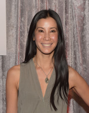 Lisa Ling kept it simple with this long center-parted hairstyle at the IWMF Courage in Journalism Awards.