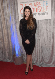 Katherine Schwarzenegger showed some curves in a body-con, zebra-patterned LBD at the IWMF Courage in Journalism Awards.