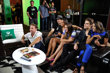 Ian Somerhalder Nina Dobrev Xbox VIP Lounge At The Hard Rock Hotel