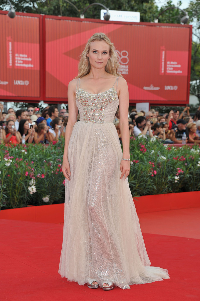"Actress Diane Kruger attends ""The Ides Of March"" premiere during the 68th Venice Film Festival at the Palazzo del Cinema on August 31, 2011 in Venice, Italy."