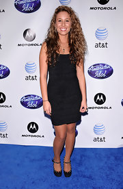 Haley Reinhart wore a classic silver pendant and silver chain for this American Idol photo shoot.