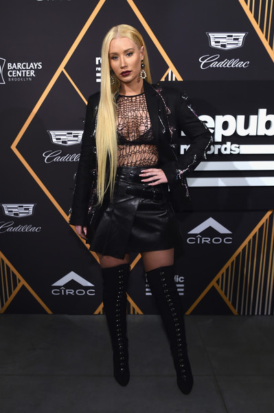 Iggy Azalea Over the Knee Boots