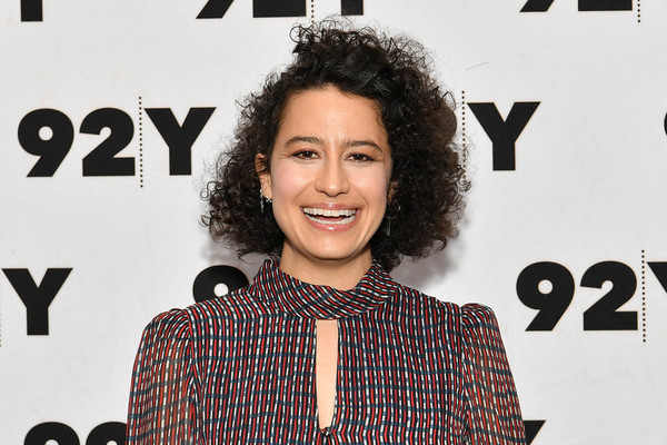 Ilana Glazer Short Curls [hair,hairstyle,forehead,premiere,style,black hair,abbi jacobson,whoopi goldberg,ilana glazer,ilana glazer in conversation with,conversation,new york city,92nd street y]