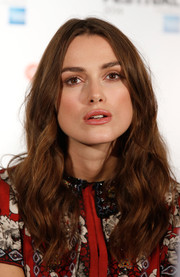 Keira Knightley showed off her long wavy hair at the 58th BFI London Film Festival.