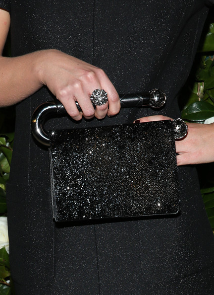 Imogen Poots Beaded Purse [bag,handbag,fashion accessory,nail,hand,finger,glitter,leather,museum of modern art 2013 film benefit: a tribute to tilda swinton - arrivals,museum of modern art 2013 film benefit: a tribute to tilda swinton,new york city,imogen poots]