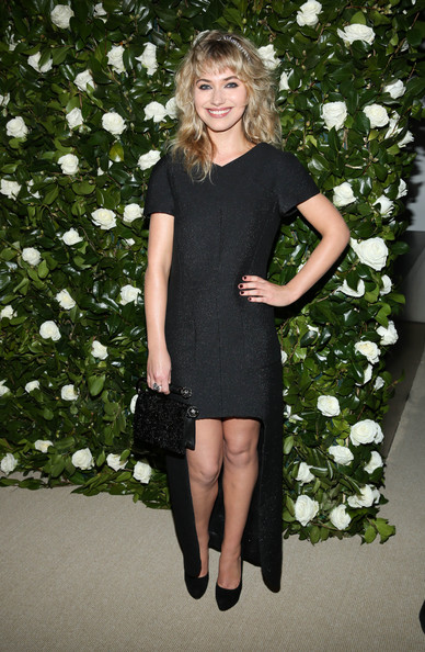 Imogen Poots Platform Pumps [clothing,dress,little black dress,cocktail dress,lady,leg,footwear,blond,fashion,shoulder,museum of modern art 2013 film benefit: a tribute to tilda swinton - arrivals,museum of modern art 2013 film benefit: a tribute to tilda swinton,new york city,imogen poots]