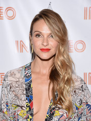 Beau Garrett highlighted her kissers with a bright red lippie.