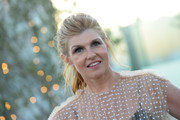 Connie Britton sported a messy-chic ponytail at the InStyle Badass Women dinner.