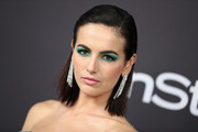 Camilla Belle couldn't be missed with her bright emerald eyeshadow.