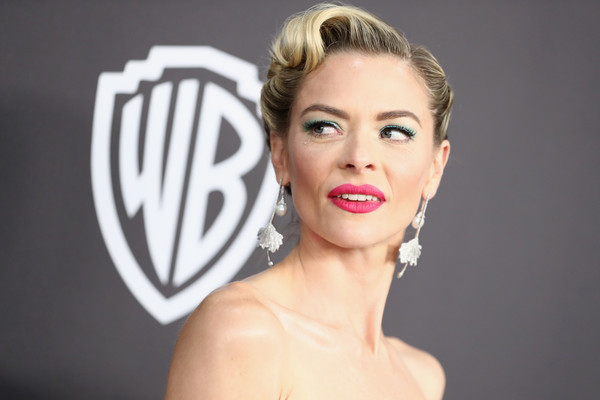 More Pics of Jaime King Retro Updo (2 of 7) - Updos Lookbook - StyleBistro [hair,face,lip,eyebrow,facial expression,beauty,skin,hairstyle,chin,cheek,jaime king,beverly hills,california,the beverly hilton hotel,instyle,golden globes,warner bros.,arrivals,party]