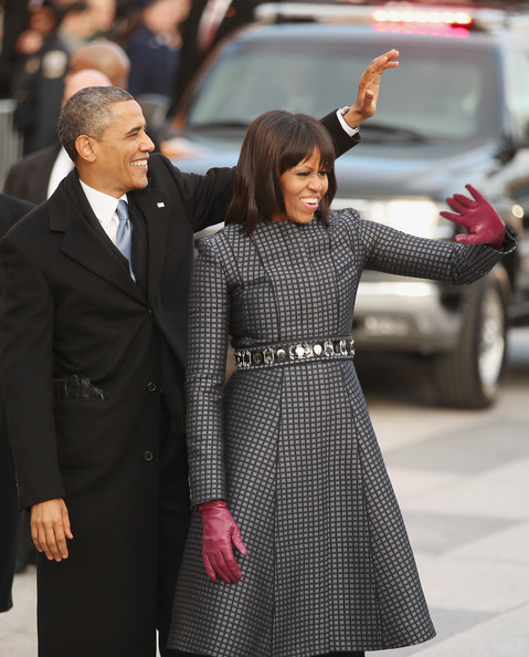 More Pics of Michelle Obama Evening Coat (1 of 47) - Michelle Obama Lookbook - StyleBistro