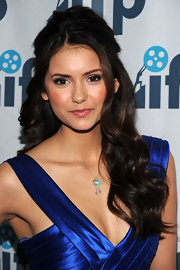 Nina Dobrev wore a sweet pendant necklace with a turquoise heart at the Independent Filmmaker Project Spring Gala.