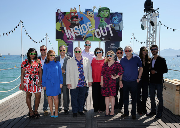 More Pics of Mindy Kaling Print Dress (1 of 5) - Mindy Kaling Lookbook - StyleBistro [inside out photocall,tourism,event,vacation,leisure,team,vehicle,sea,crew,travel,mindy kaling,gilles lellouche,marilou berry,phyllis smith,pete docter,john lasseter,l-r,photocall,cannes film festival]