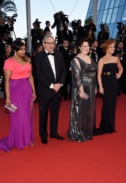 More Pics of Mindy Kaling Metallic Clutch (1 of 13) - Clutches Lookbook - StyleBistro [red carpet,carpet,dress,event,flooring,gown,premiere,formal wear,fashion,public event,cannes,france,inside out premiere - the 68th annual cannes film festival,premiere,cannes film festival,phyllis smith,amy poehler,john lasseter,mindy kaling]