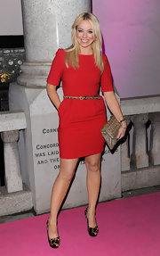Liz Mcclarnon attended the Inspiration Awards for Women looking classy in a red mini dress.