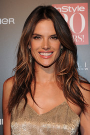 Alessandra Ambrosio topped off her look with sexy center-parted waves when she attended the InStyle 20th anniversary party.