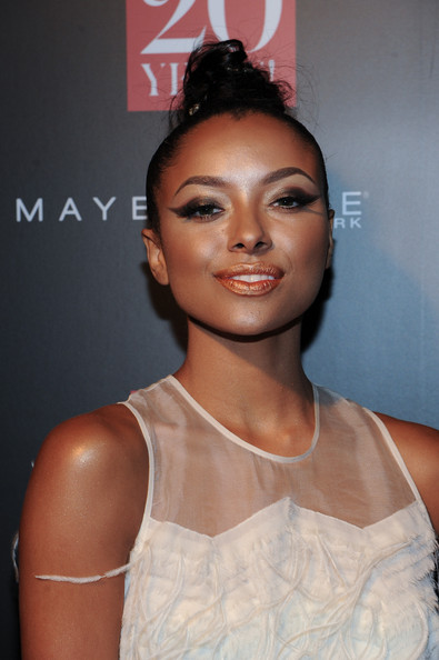 Kat Graham went for a head-turning beauty look with this super-smoky cat eye.