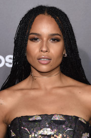 Zoe Kravitz added major cuteness with a delicate Dior bow choker.