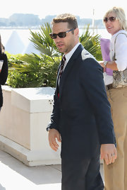 Jason opts for a masculine rectangular frame in classic tortoiseshell in Cannes.