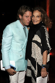 Lapo Elkann was a standout in his handsome aqua blazer at the International Herald Tribune's Luxury Business Conference.
