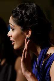 Freida Pinto graced the International Indian Film Academy Awards wearing a romantic braided updo.