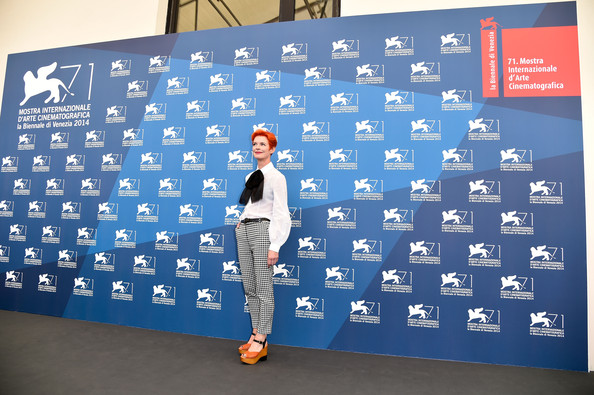 More Pics of Sandy Powell Boy Cut (1 of 6) - Short Hairstyles Lookbook - StyleBistro [jury photocall,venice award for a debut film,blue,world,display board,advertising,alice rohrwacher,luigi de laurentiis,venice,italy,venice film festival,opening photocall]