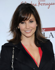 Gina Gershon wore her shiny chestnut locks in a softly layered look at the NYC premiere of 'The Iron Lady.