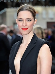 Rebecca Hall looked stunning with a classic, center-part bun.