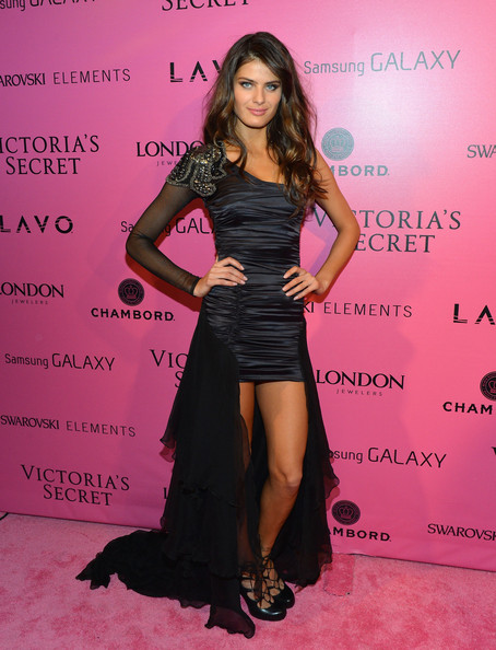 Isabeli Fontana Fishtail Dress