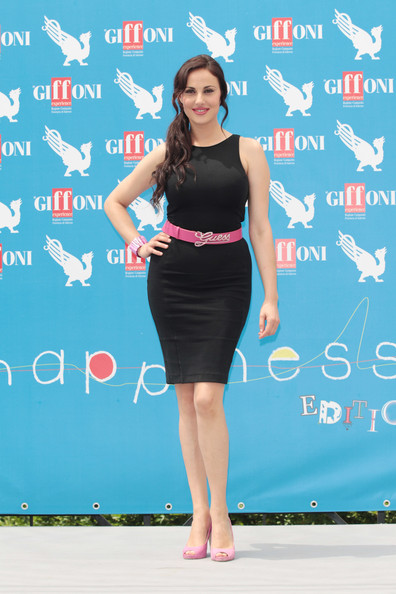 Isabelle Adriani Little Black Dress [clothing,dress,cocktail dress,shoulder,fashion,joint,waist,fashion design,little black dress,fashion model,isabelle adriani,giffoni,photocall,giffoni valle piana,italy,giffoni film festival]