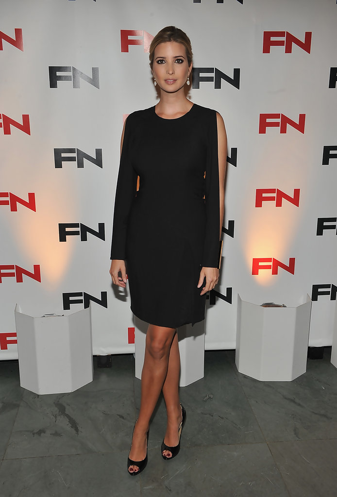 Here, Ivanka perfects the sophistication and grace of the little black  dress. The sleek