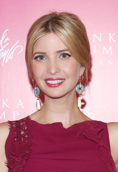Ivanka Trump Bobby Pinned updo