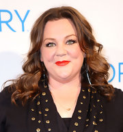 Melissa McCarthy wore a vibrant warm red lipstick at the Ivory Brand Reinvention launch.