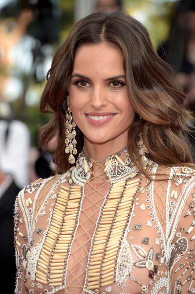 Izabel Goulart Long Wavy Cut [the beguiled red carpet arrivals,the beguiled,hair,hairstyle,beauty,fashion model,long hair,fashion,brown hair,lip,jewellery,fashion accessory,izabel goulart,screening,cannes,france,cannes film festival,palais des festivals]