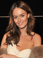 Nicole Trunfio attended the J. Mendel fall 2012 fashion show wearing her hair long and wind-blown.