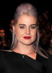Kelly Osbourne wore her hair in a big backcombed 'do at the J. Mendel fall 2012 fashion show.