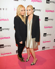 Ashley Olsen donned a pair of multi-colored backless kitten heels at the Miss for a Must event at JC Penney in New York City.