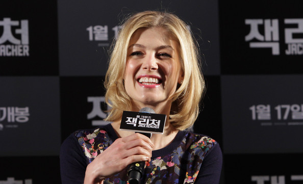 More Pics of Rosamund Pike Print Blouse (3 of 19) - Tops Lookbook - StyleBistro