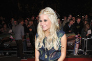 Pixie Lott attends the UK Film Premiere of 'Jackass 3D' at the BFI IMAX on November 2, 2010 in London, England.