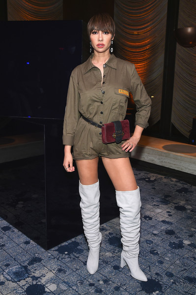 Jackie Cruz Over the Knee Boots [footwear,fashion model,leg,joint,beauty,thigh,girl,lady,fashion accessory,fashion,new york city,the pool,stuart weitzman fw18 presentation and cocktail party,stuart weitzman fw18 presentation and cocktail party,jackie cruz]
