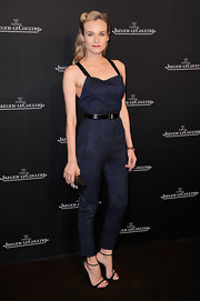 Diane Kruger was laced up in retro glamour from head to toe in Jason Wu's spring 2013 double-strap belted jumpsuit.