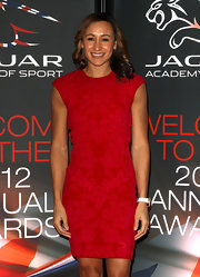 Jessica Ennis looked oh-so-slim in her red cocktail dress at the Jaguar Academy of Sports Awards.