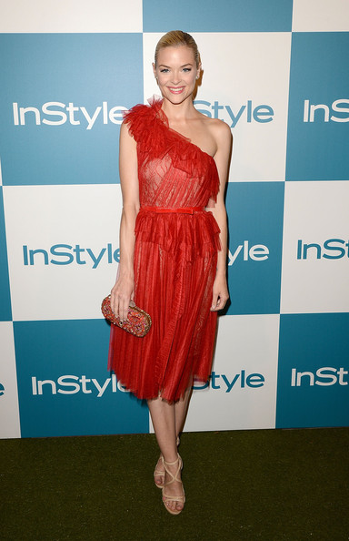 Jaime King One Shoulder Dress