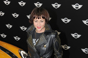 Jaime Winstone Leather Coat