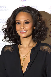 Alesha Dixon looked stunning at the James' Jog-On to Cancer event with her hair in a curled-out bob.